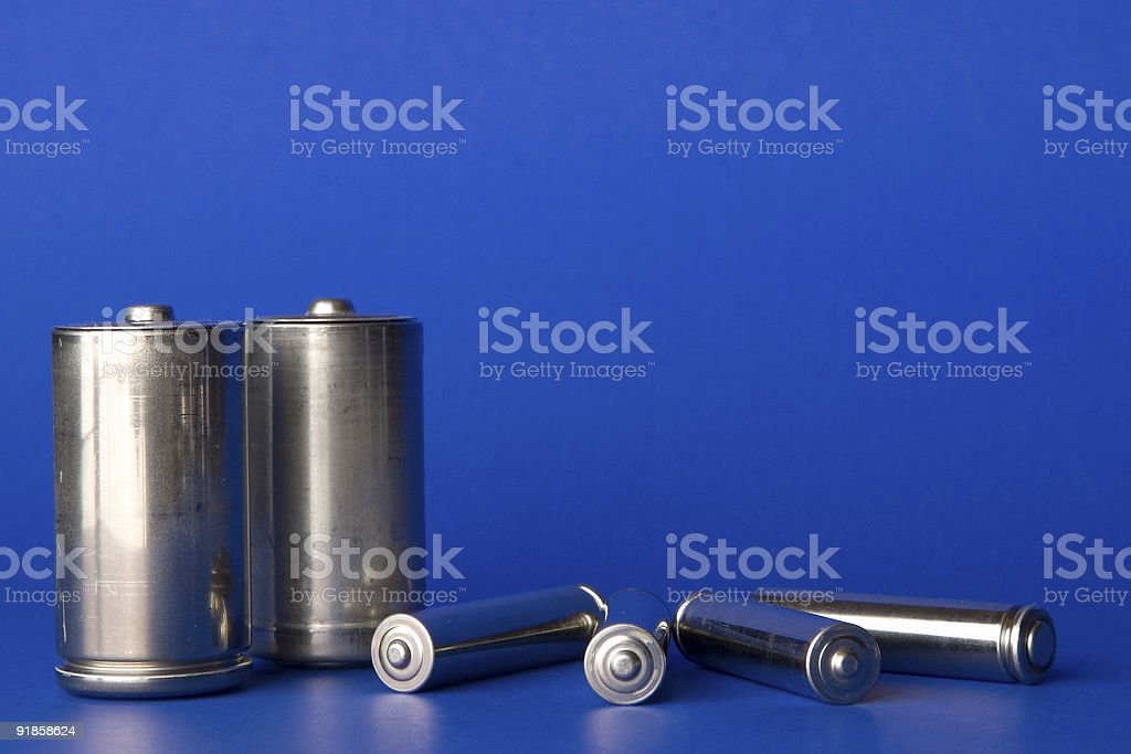 Household Batteries (Front View) stock photo