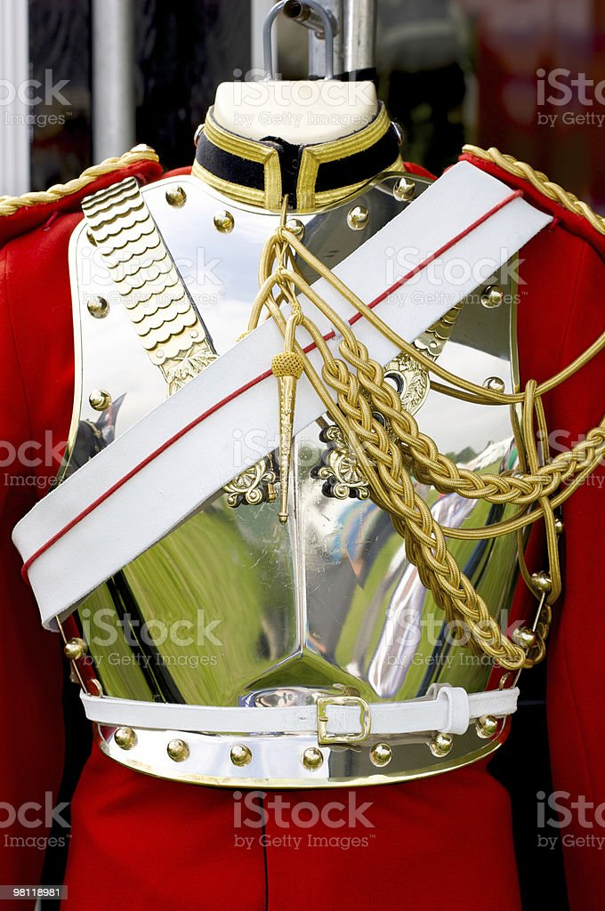 Household cavalry Life Guard uniform royalty-free stock photo