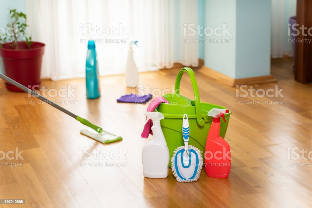 household cleaning materials zbiór zdjęć royalty-free