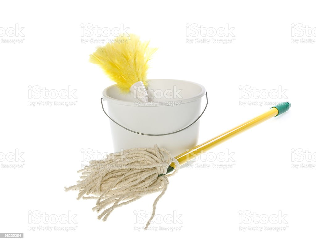 Household Cleaning Supplies royalty-free stock photo