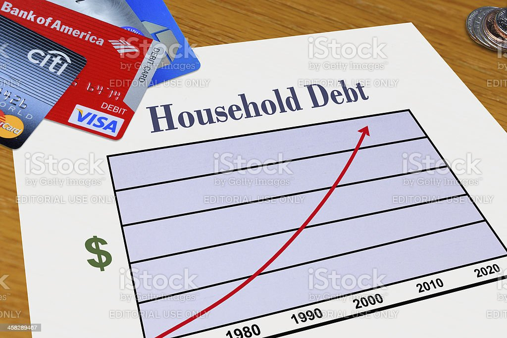 Household Debt stock photo