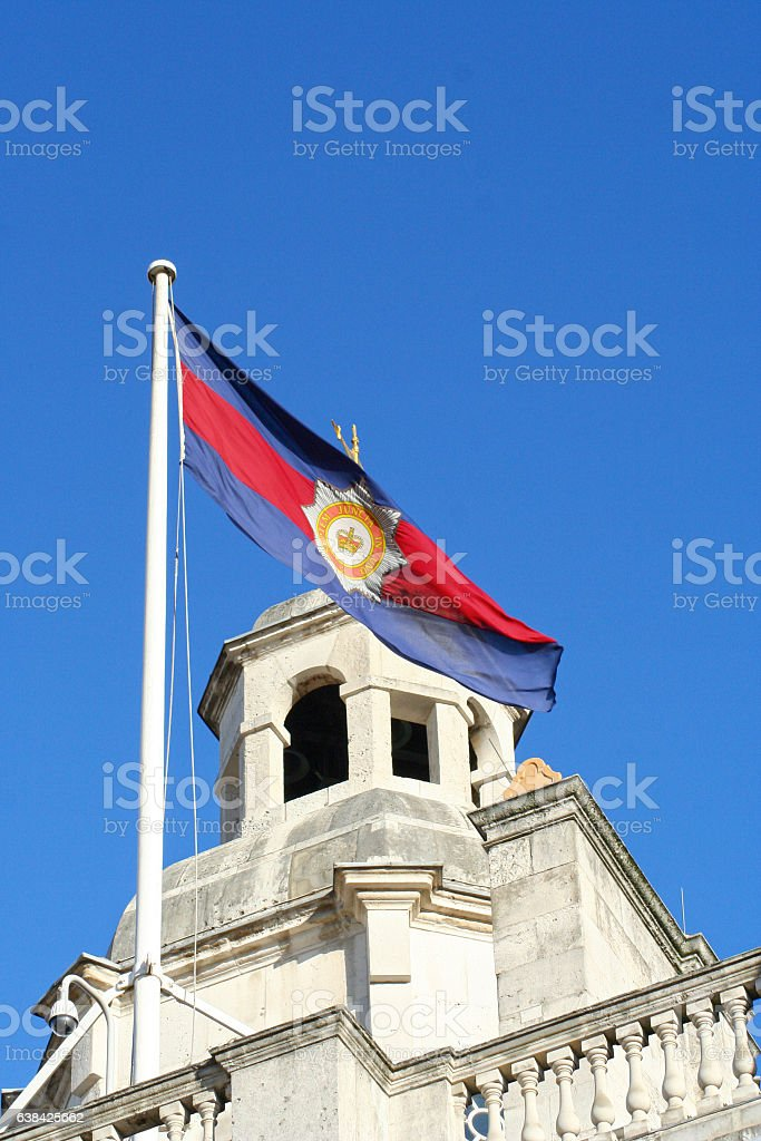 Household Division Camp Flag stock photo