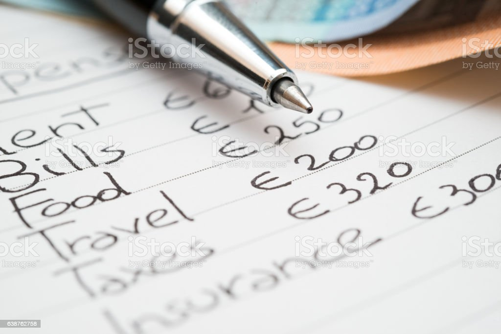 Household expenses concept stock photo