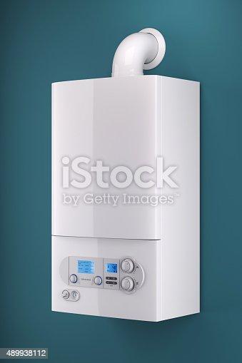 istock Household gas boiler 489938112