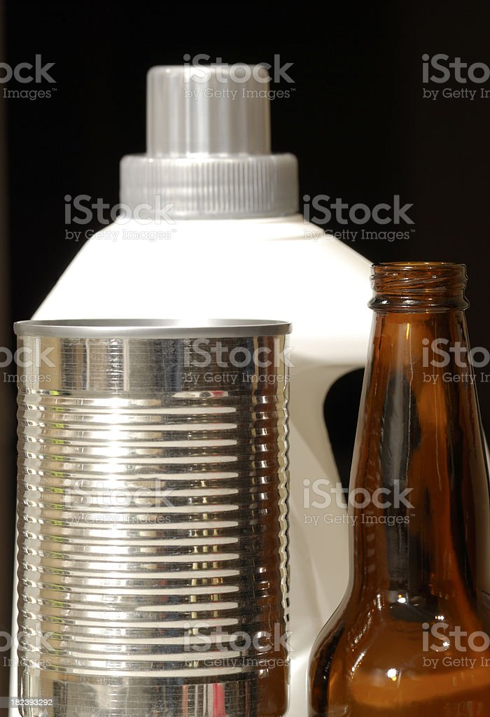 Household products recycling. royalty-free stock photo