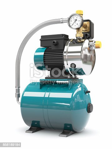 istock Household water pump station 858189184