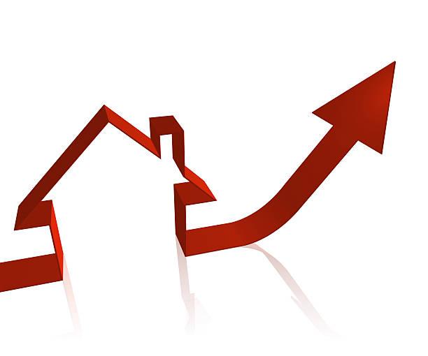 houseing price go up stock photo