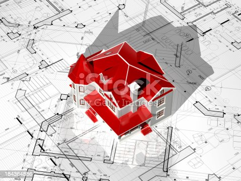 istock Houseing Project-Construction Blueprint 184364886