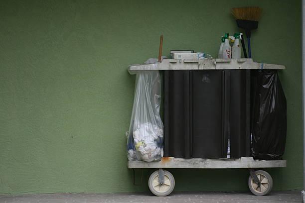 Housekeeping Cart stock photo