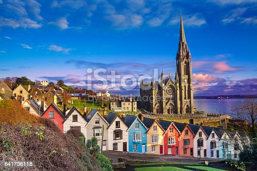 istock Houses and catherdral in Cobh, Ireland 641736118
