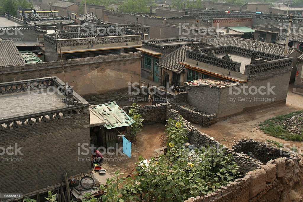 Houses and courtyards in Pingyao royalty-free stock photo
