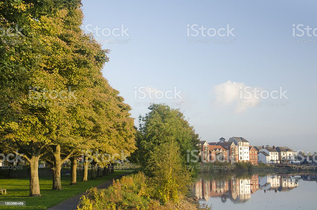 Houses and Playground at The Cop in Chester royalty-free stock photo