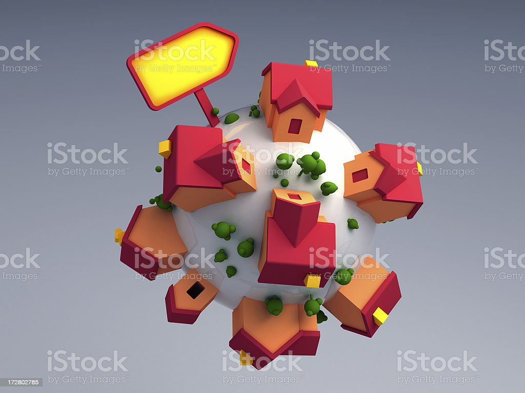 Houses around the world royalty-free stock photo