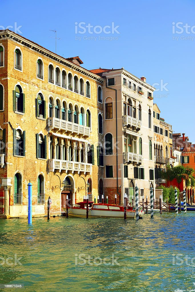 Houses at Grand Canal royalty-free stock photo