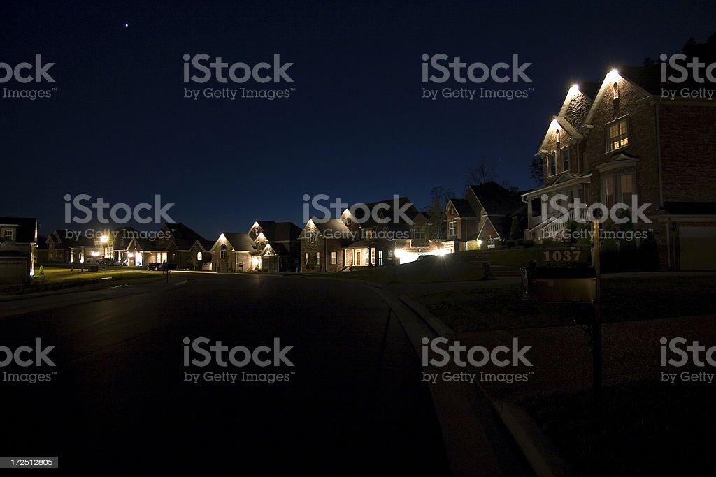Häuser bei Nacht – Foto