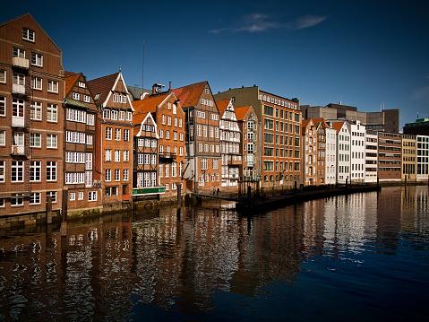 Houses at Nikolaifleet/Deichstrasse, Hamburg, Germany