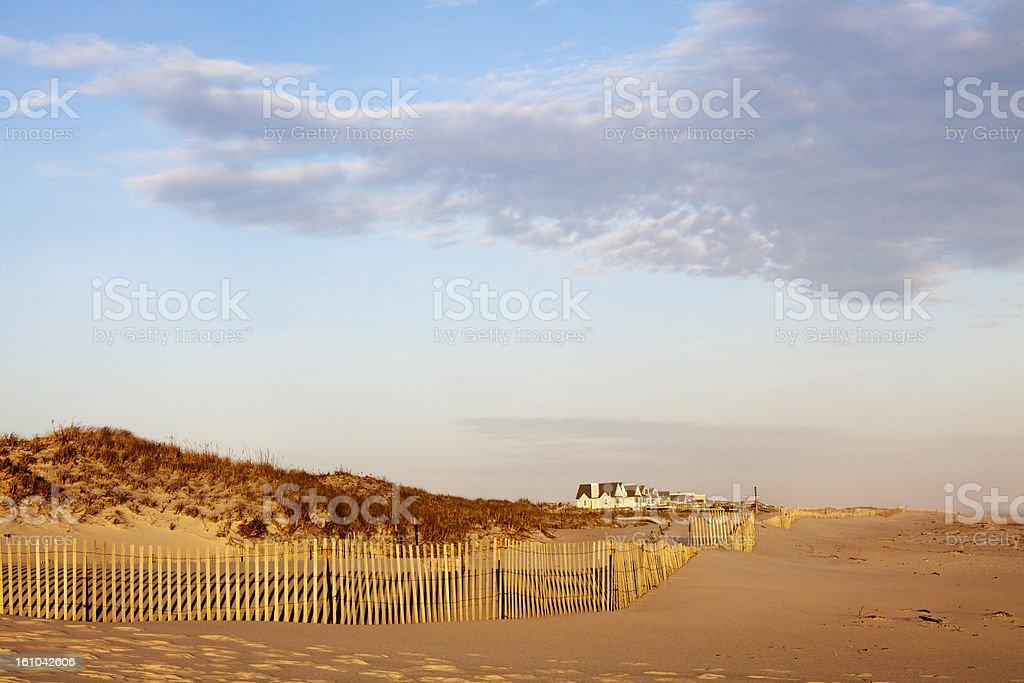 Houses by Fire Island Beach stock photo