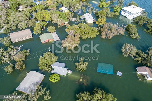 istock Houses completed Flooded 1057751652