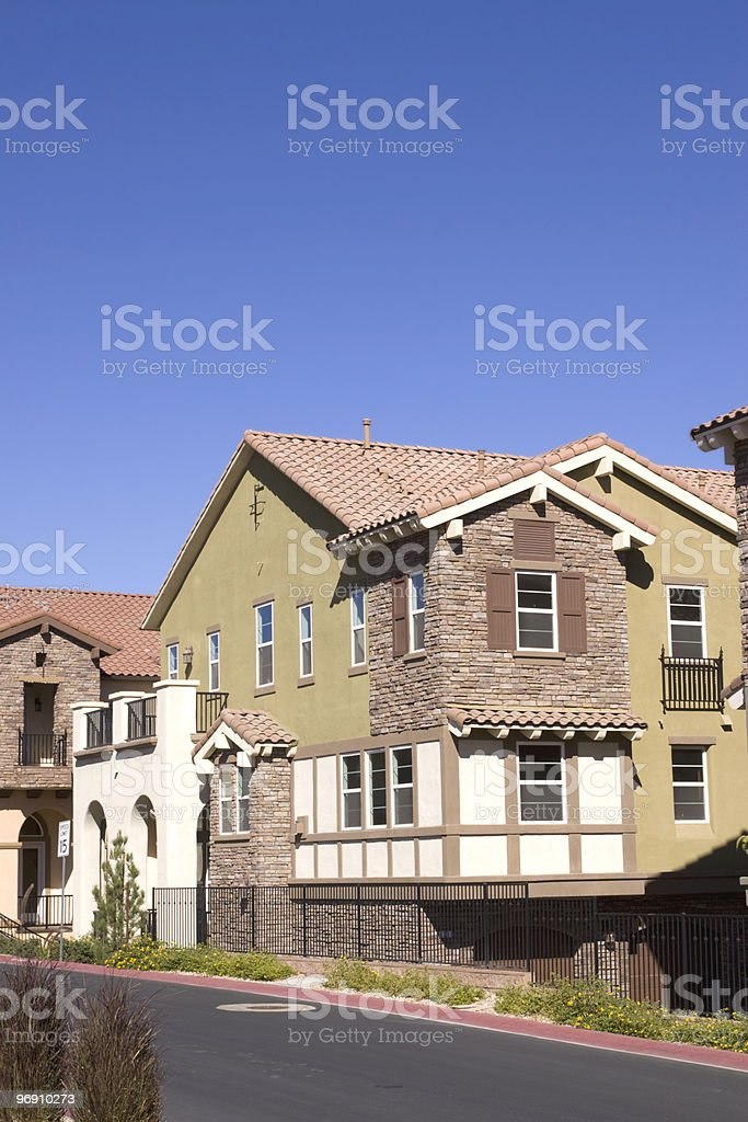 Houses in a neighborhood royalty-free stock photo