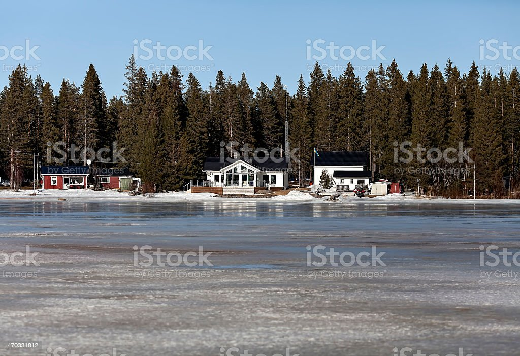 Houses in a row royalty-free stock photo