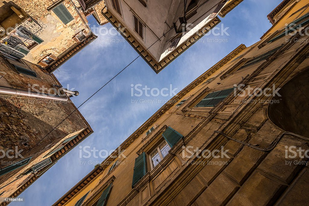 Houses in a village in Tuscany, Italy stock photo