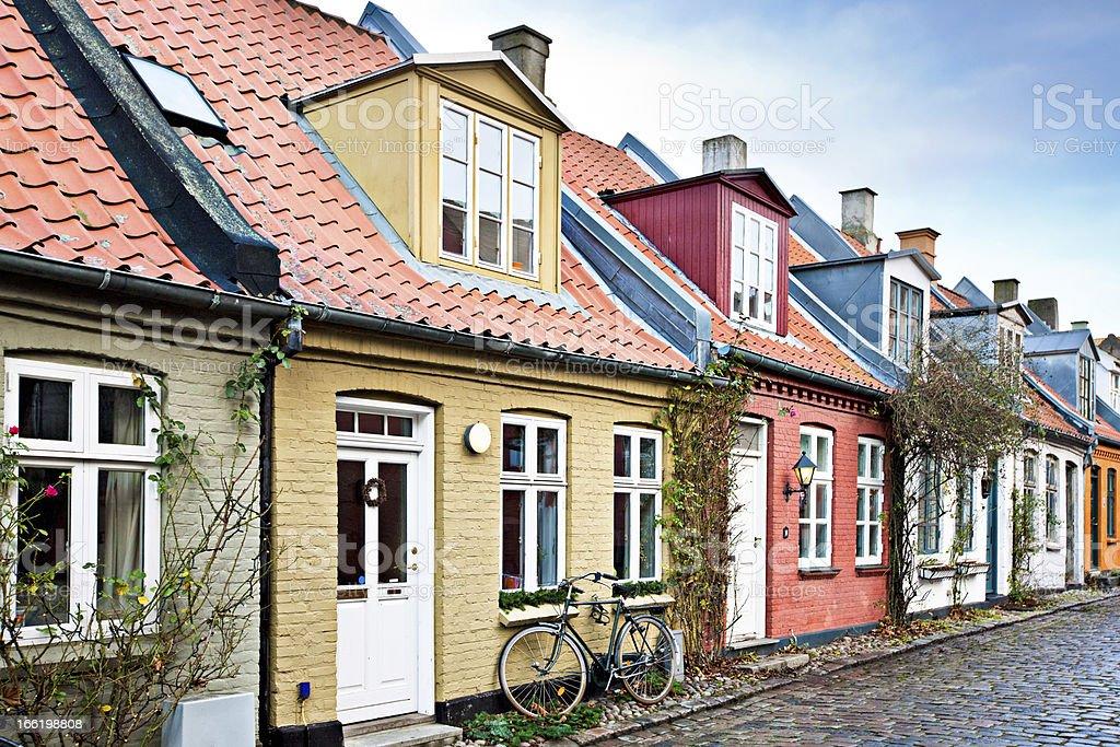 Houses in Aarhus royalty-free stock photo