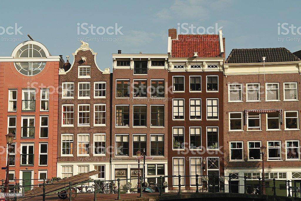 Häuser in Amsterdam Lizenzfreies stock-foto