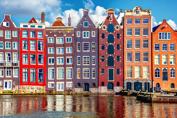 Houses in Amsterdam Houses in Amsterdam canal stock pictures, royalty-free photos & images