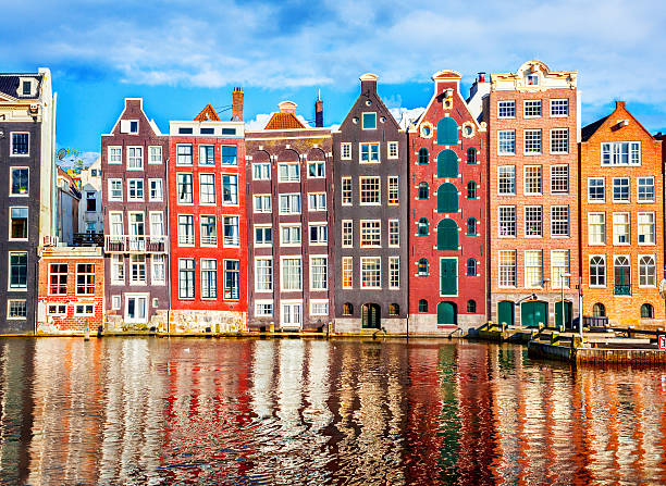 Houses in Amsterdam Houses in Amsterdam northern europe stock pictures, royalty-free photos & images