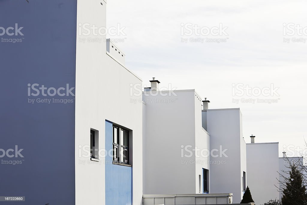 Houses in architectural  functional  style. royalty-free stock photo