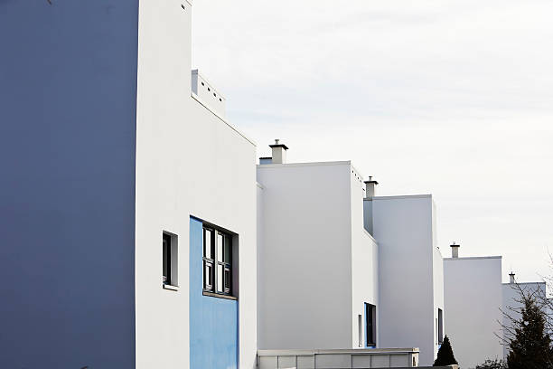 Houses in architectural  functional  style. stock photo