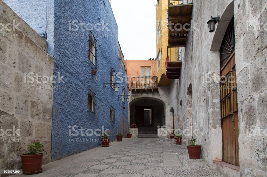 Houses in Arequipa, Peru royalty-free stock photo