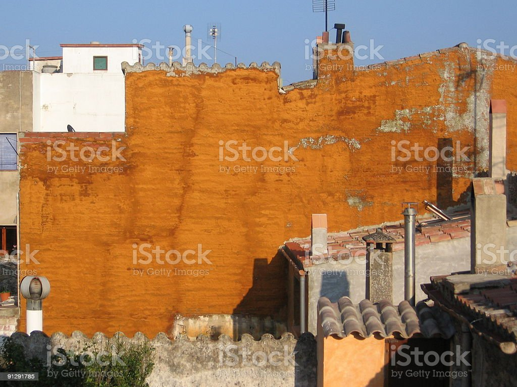 houses in Begur royalty-free stock photo