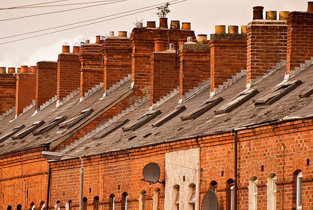 Casas en Belfast - foto de stock