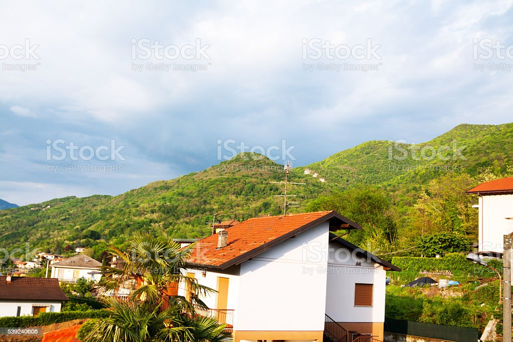 Houses in Besano royalty-free stock photo