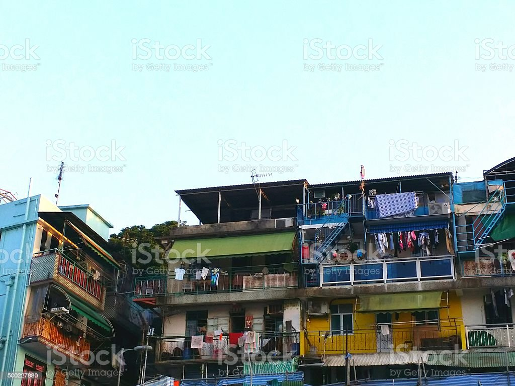 Houses in Cheung Chau stock photo