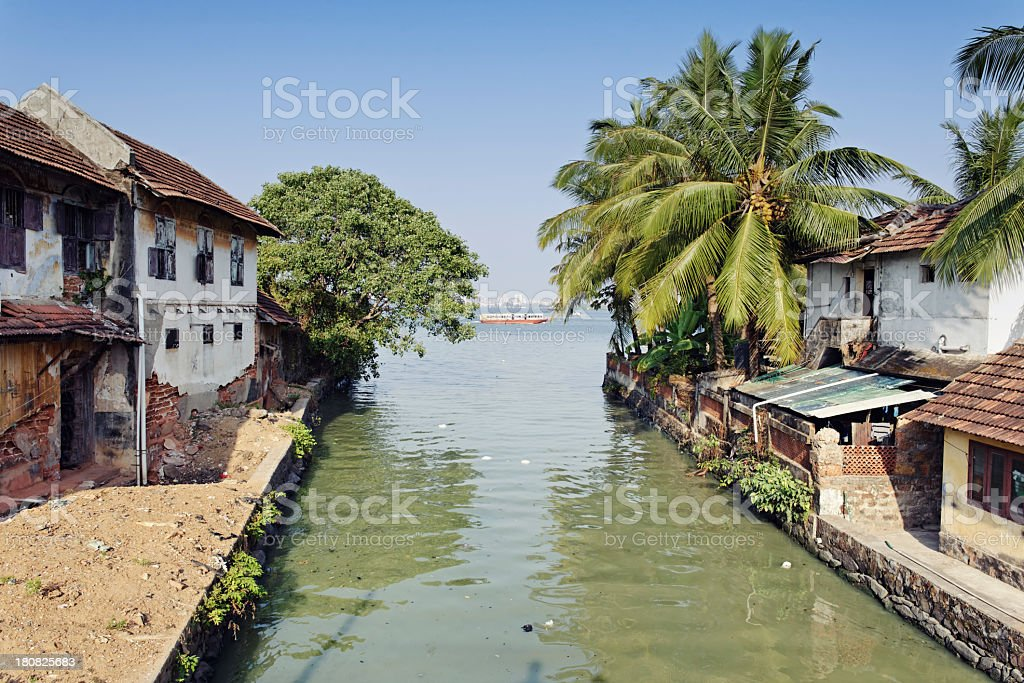 Houses in Cochin stock photo