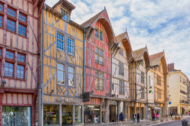 Maisons à Colombage, Troyes, France stock photo