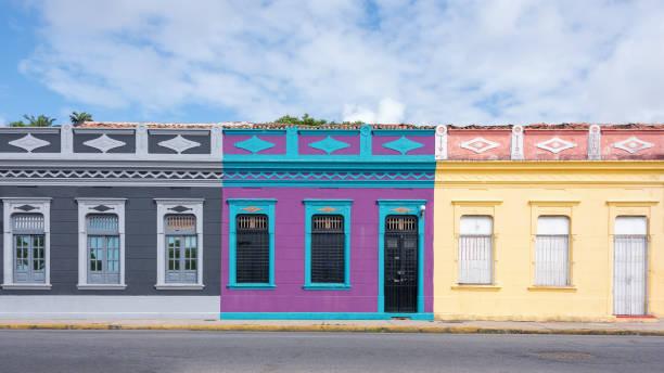 Häuser im Kolonialstil aus Olinda Stadt – Foto