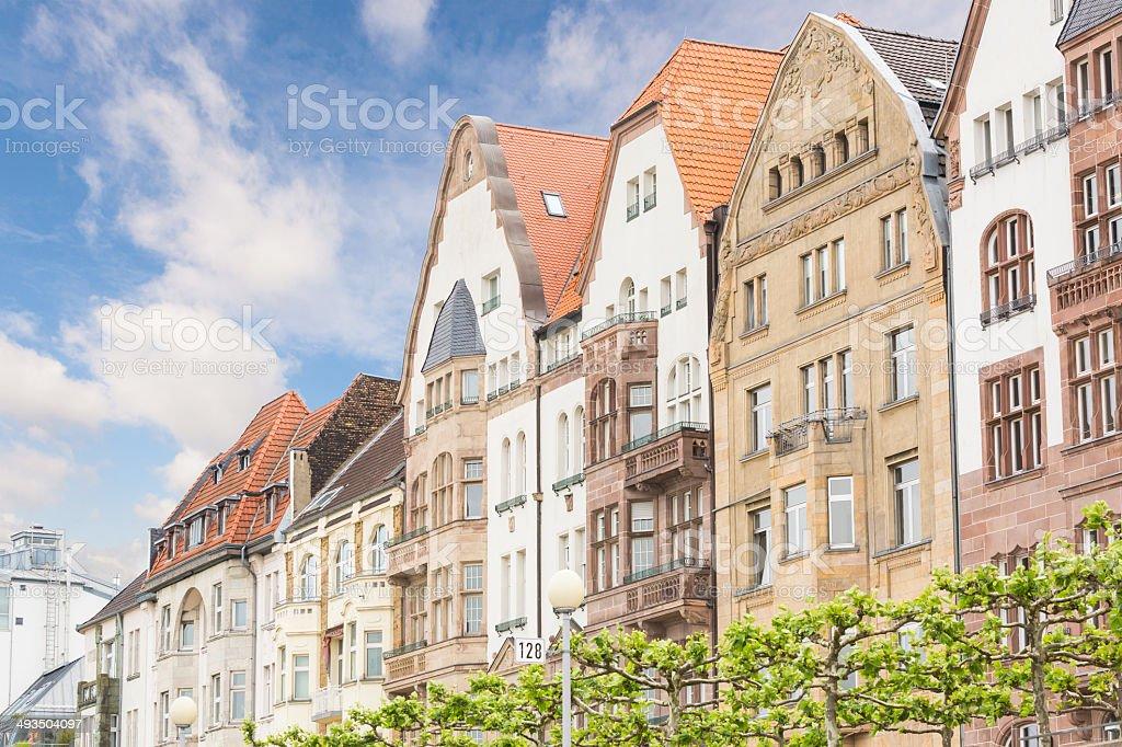 Houses in Dusseldorf Altstadt, the Old Town City Center