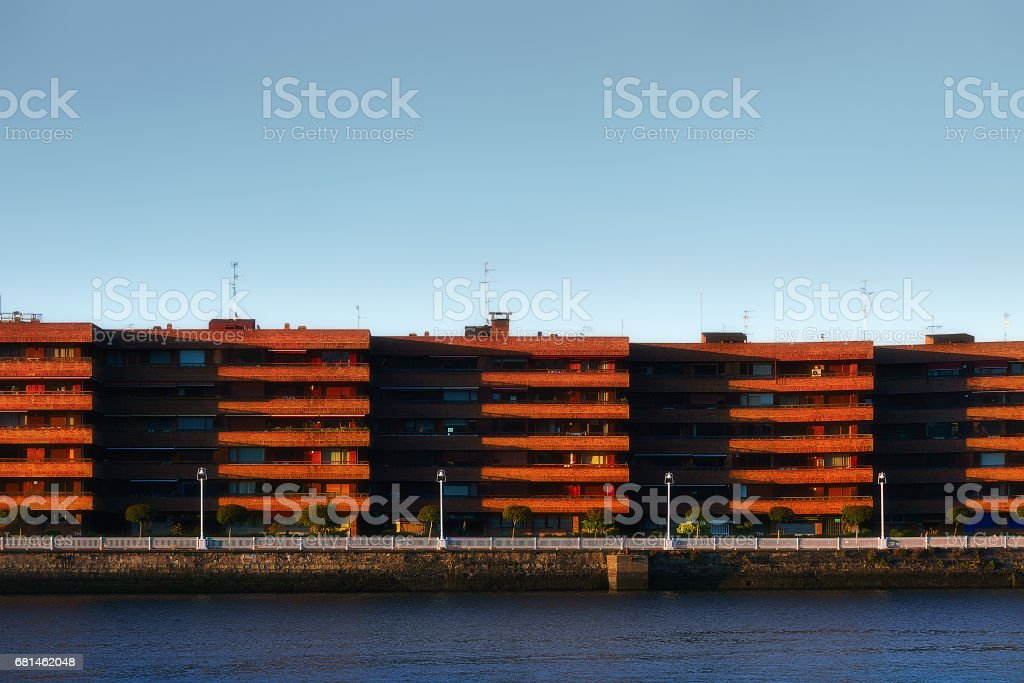 houses in getxo royalty-free stock photo