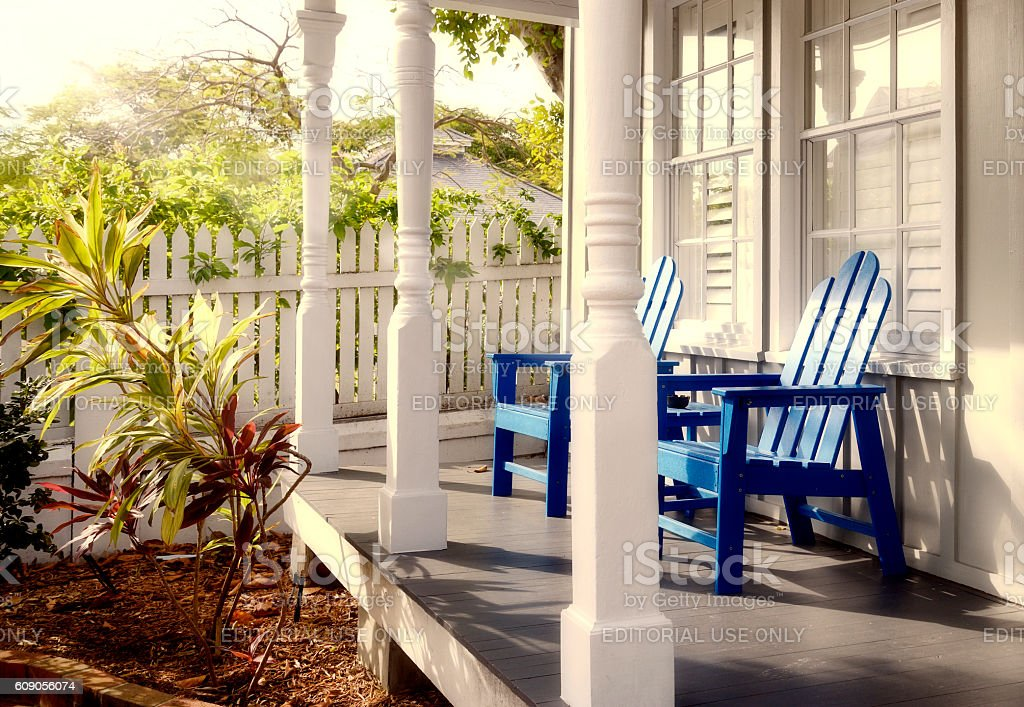 Houses in Key West stock photo
