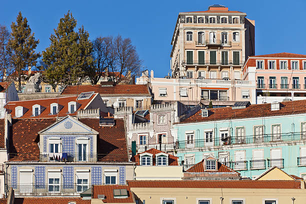 Houses in Lisbon stock photo