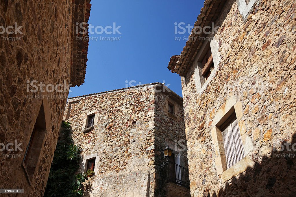Houses In Medieval Village of Pals royalty-free stock photo