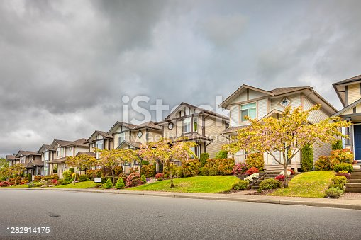 Houses in Mission, British Columbia, Canada