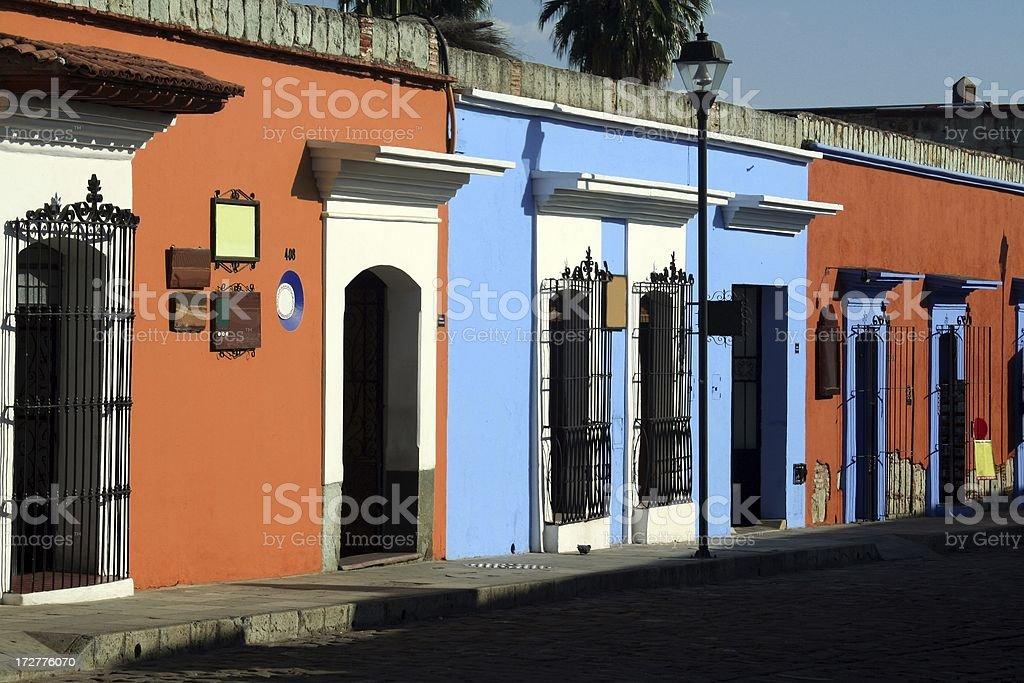 Houses in Oaxaca stock photo