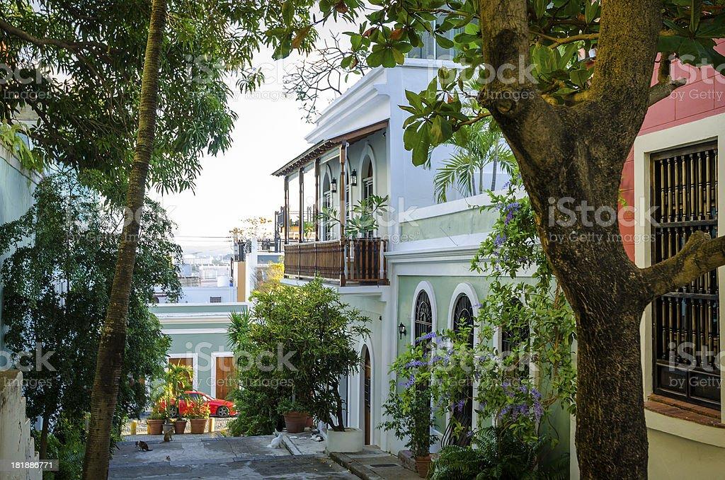 Houses in Old San Juan, Puerto Rico stock photo