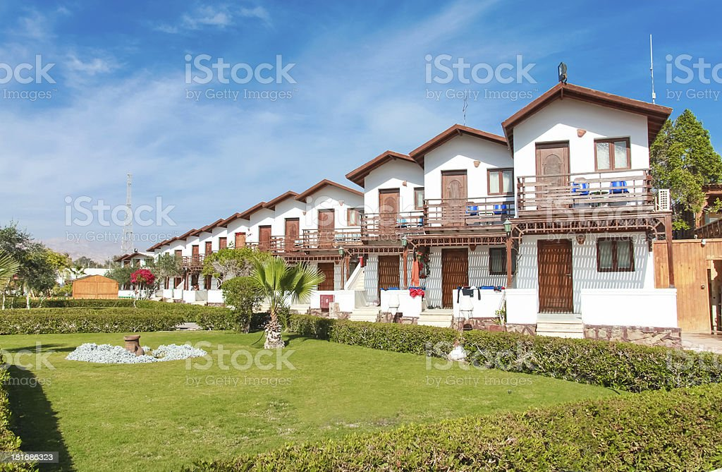 Houses in row royalty-free stock photo