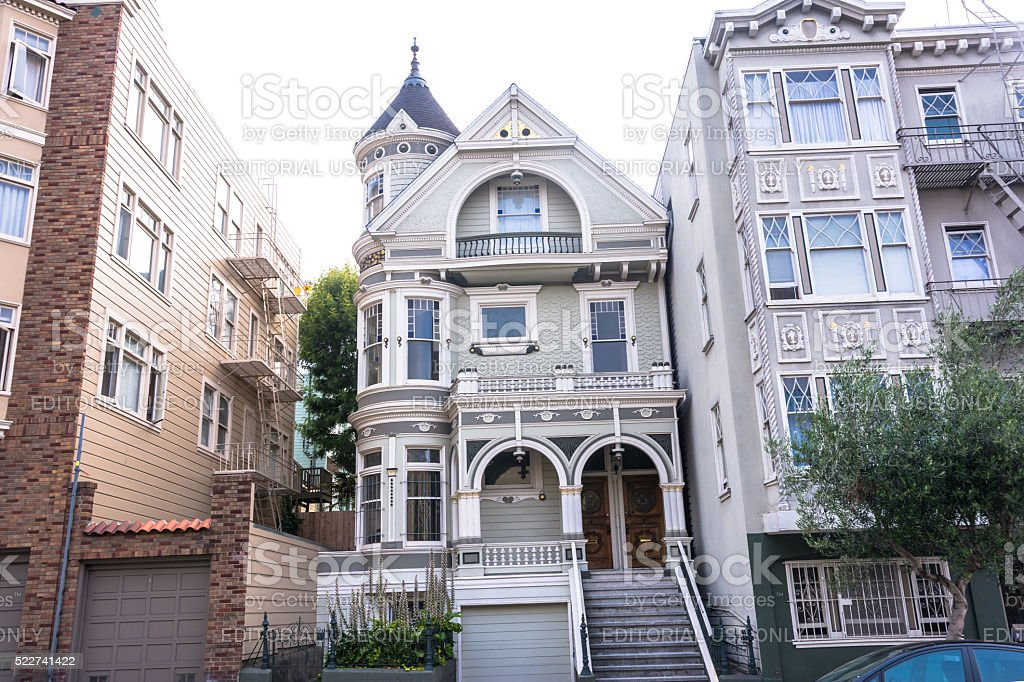 Houses in San Francisco stock photo