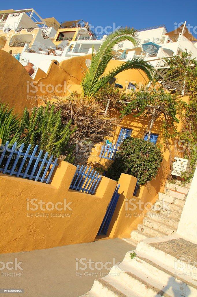 houses in santorin greek island zbiór zdjęć royalty-free